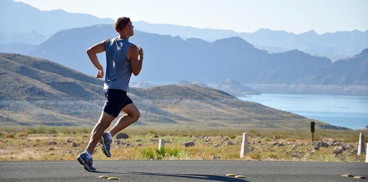 a male runner