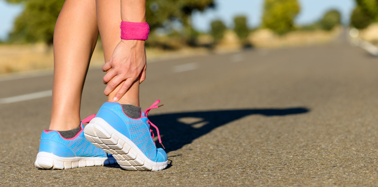a runner with hurt ankle
