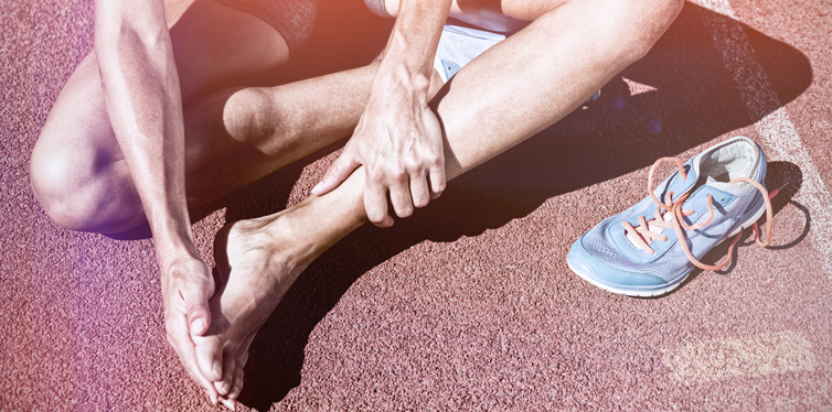 an athlete having foot pain