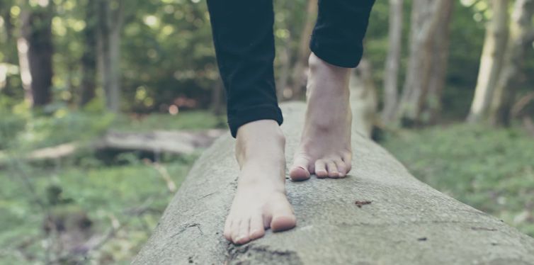 barefoot person