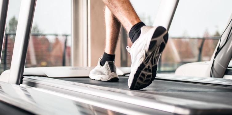 man on a treadmill machine