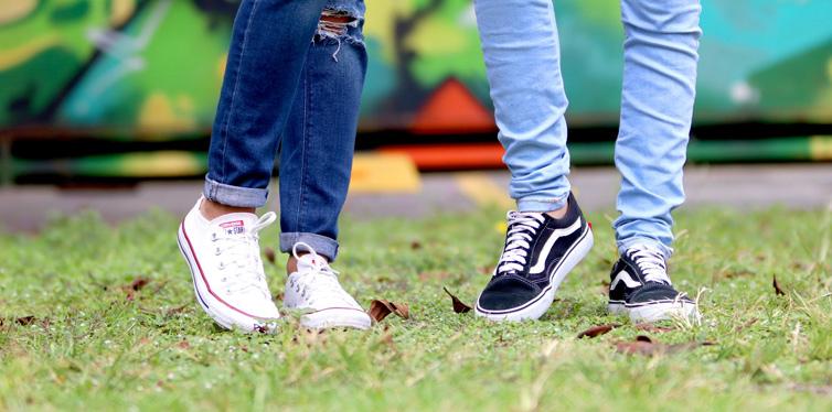 people in sneakers