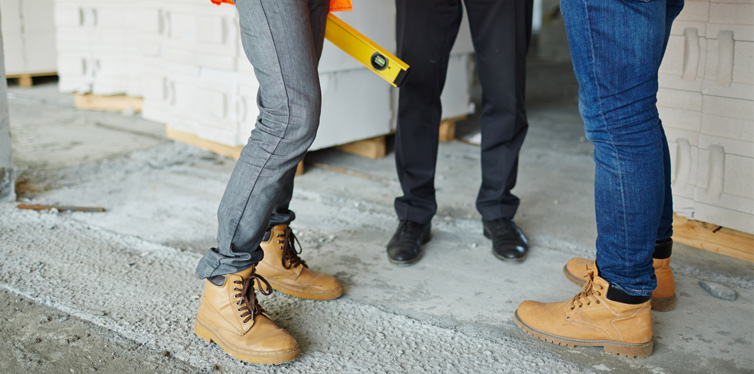 people wearing work boots