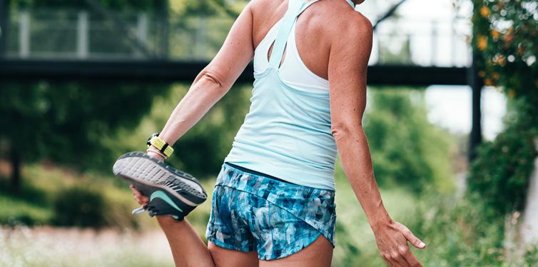runner stratching