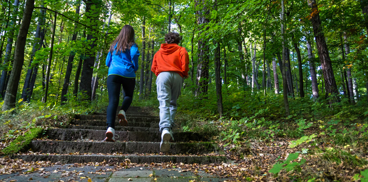 teenagers running