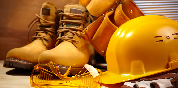 work boots and other equipment