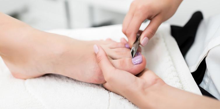 a pedicure treatment