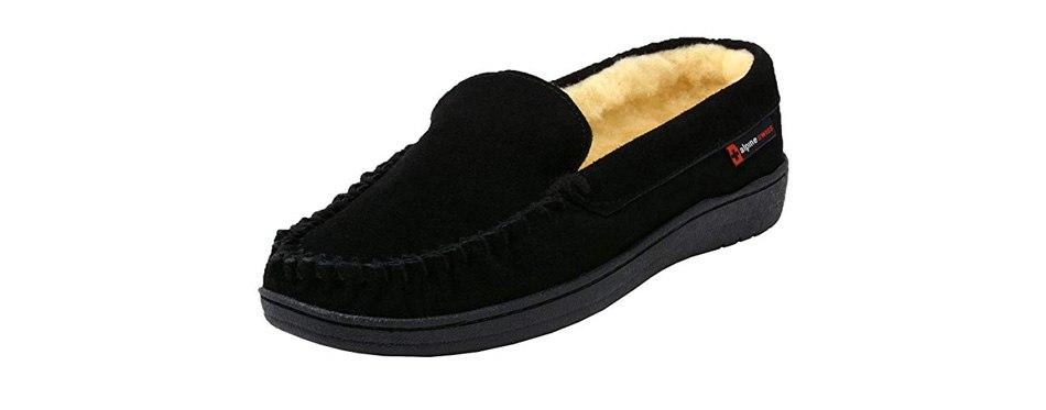 alpine swiss yukon men's moccasin slippers