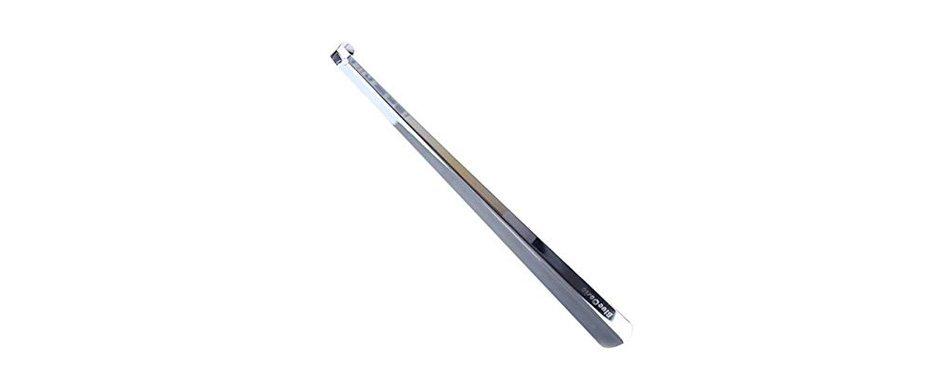 bluecosto 16 inch long handled stainless steel shoe horn