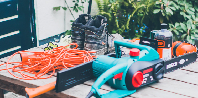 safety shoes and tools