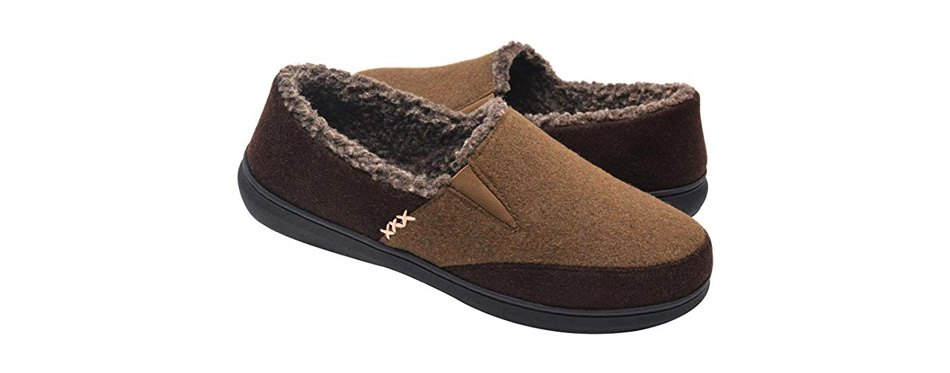 zigzagger men's wool moccasin slippers