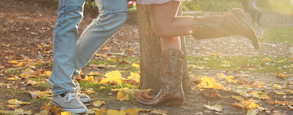 a girl wearing cowboy boots