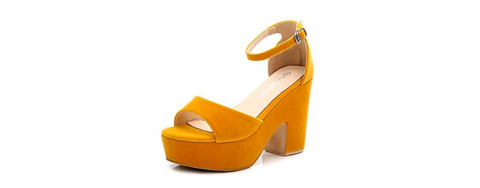 block heeled wedge platform sandals