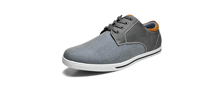 bruno marc men's riviera oxford style sneakers