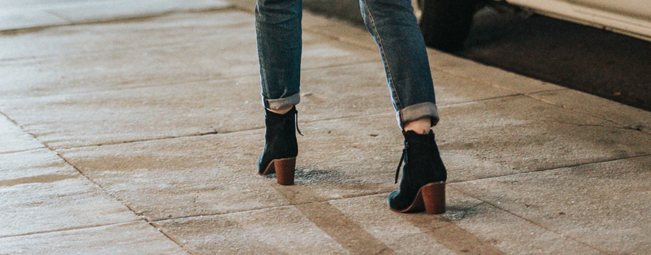 chunky heel ankle boots for women