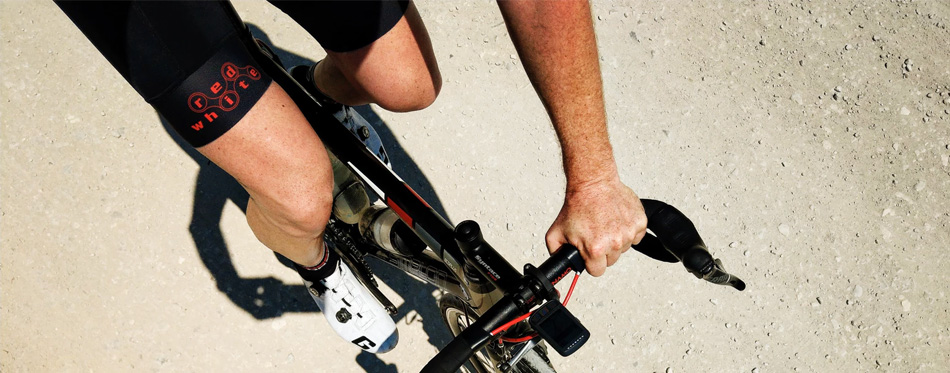 cyclist wearing road cycling shoes