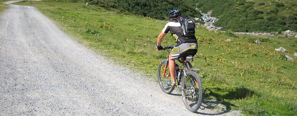 man on a mountain bike