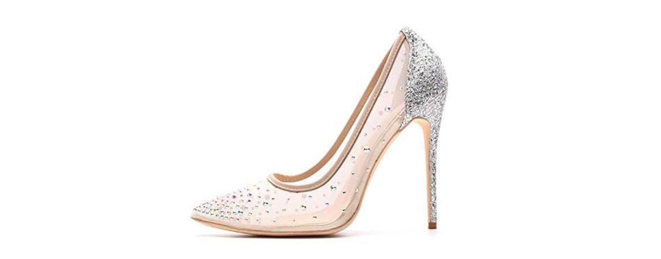 miluoro transparent wedding shoes