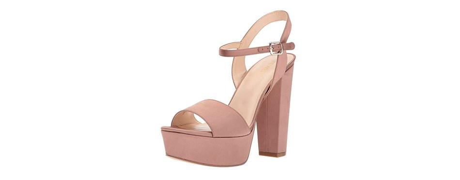 nine west carnation satin heeled sandal