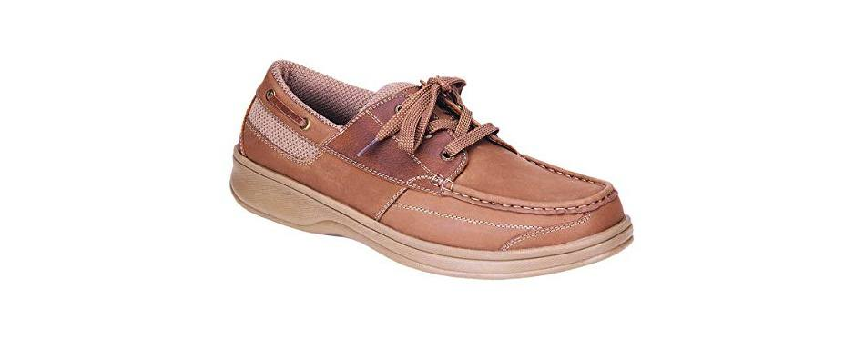 orthofeet men's boat shoes