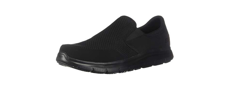 skechers for work men's flex advantage slip resistant shoes