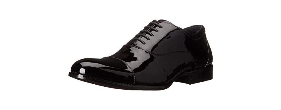 stacy adams men's gala cap-toe tuxedo lace-up oxford shoe