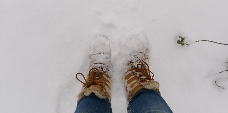 uggs in the snow