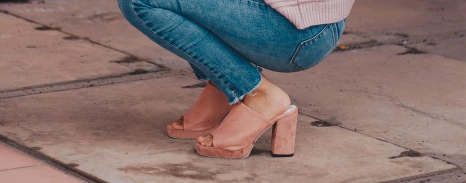 woman wearing platform heels