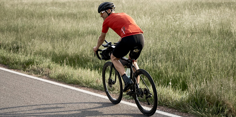 a cyclist in the country