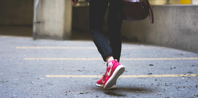 a girl walking