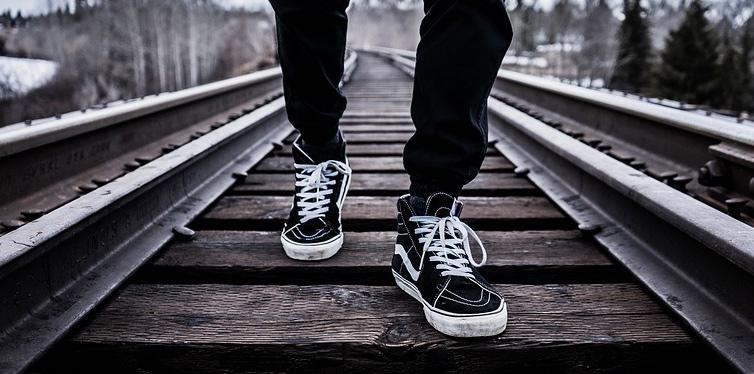 a man walking