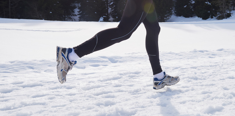 a runner on snow