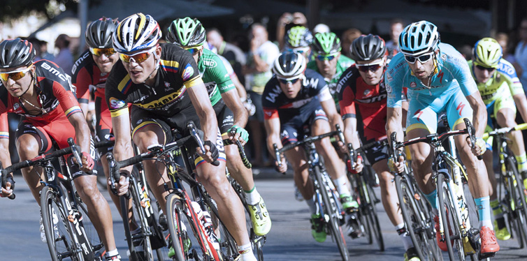 a triathlon race