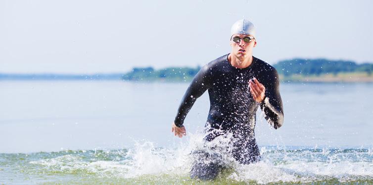 a triathlon runner
