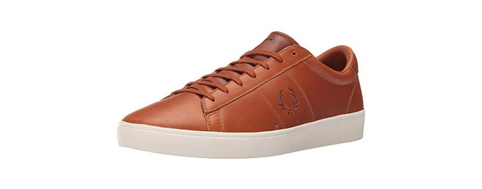 fred perry spencer waxed leather sneaker