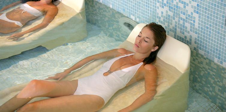 ice bath at the spa