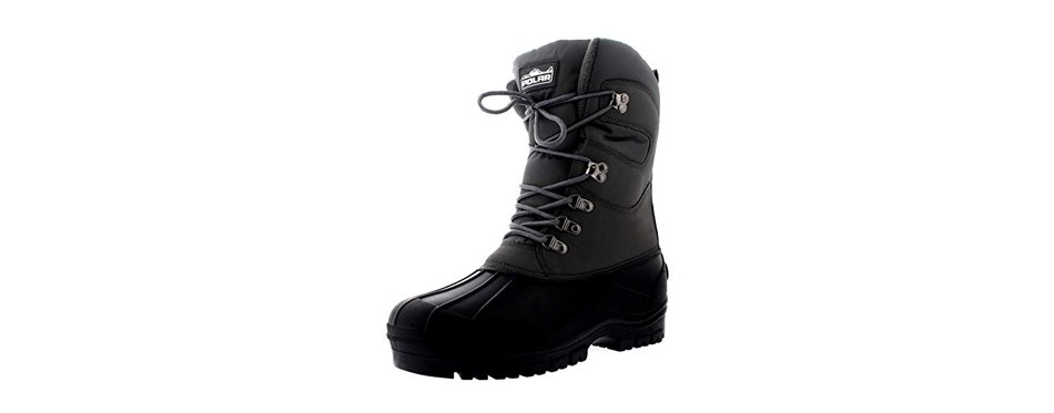 polar men's snow hiking mucker duck grafters waterproof safety thermal boots