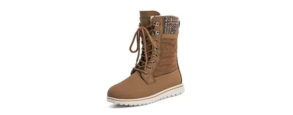 polar women's waterproof durable snow winter hiking fleece ankle boots