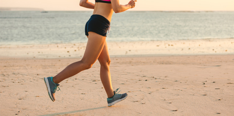runner at the beach