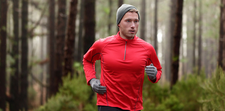 runner wearing waterproof jacket