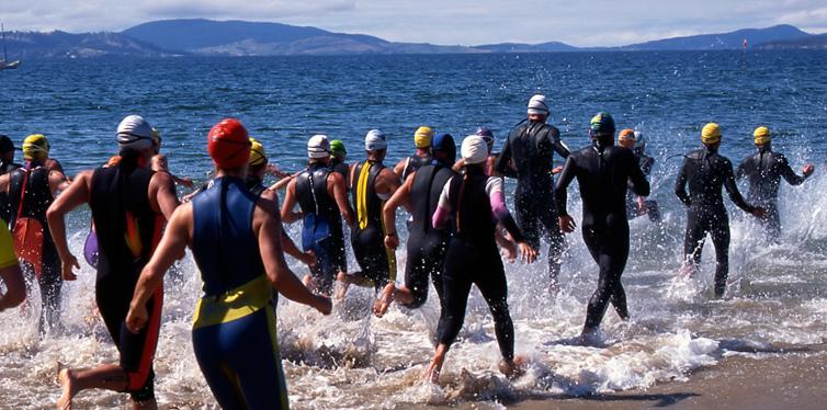 triathlon athletes