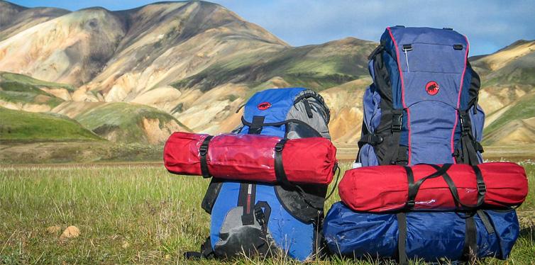 two hiking backpacks