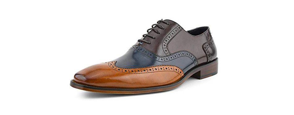 asher gren men's tri tone calf leather wingtips