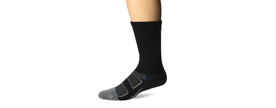 feetures men's elite merino+ cushion crew