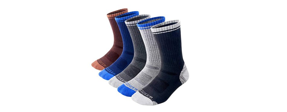 feideer men's multi-pack wicking cushioned outdoor recreation crew socks