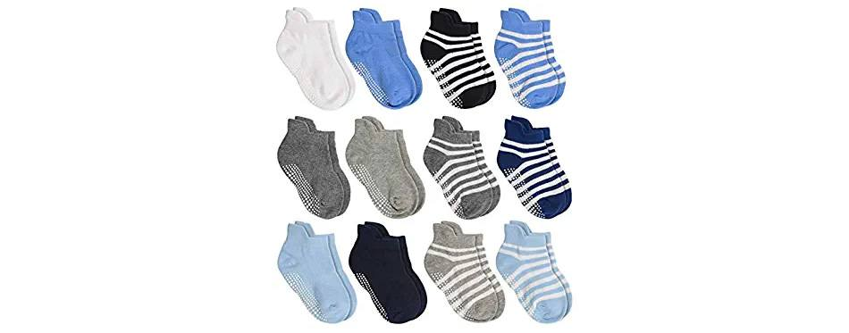 aminson boys and girls ankle socks with grip