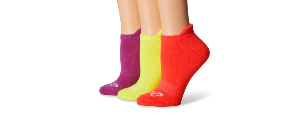 asics women's cushion low-cut sock
