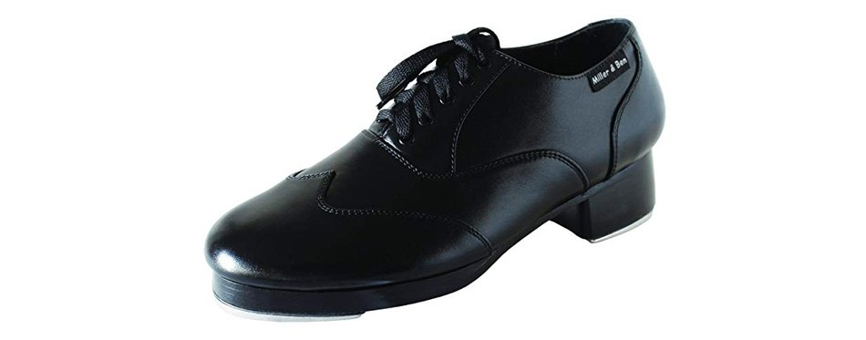 miller & ben tap shoes; triple threat; all black