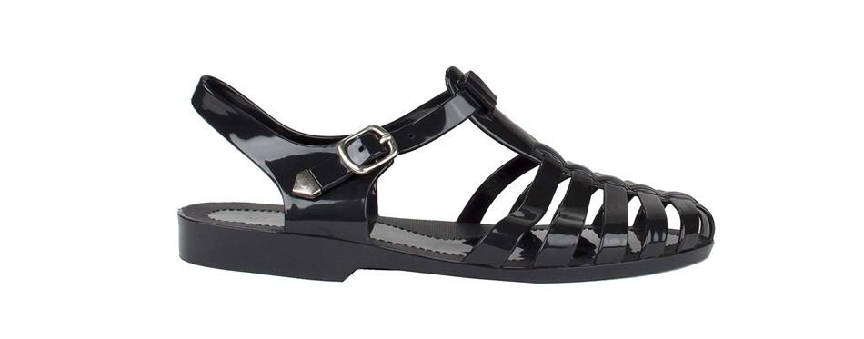 snj new women summer retro jelly slingback sandals