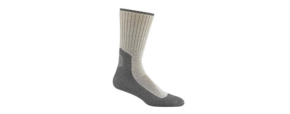 wigwam men's at work durasole crew length work sock